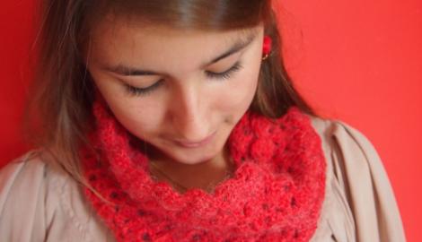 Col crochet n°2 Chouette Kit Réveillon Noël 2012