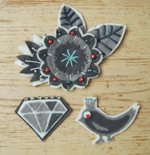 Broches en feutrine, Chouette Kit