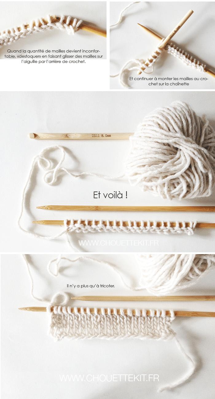 Monter des mailles au crochet mais pour le tricot - Apprendre a monter des mailles ...