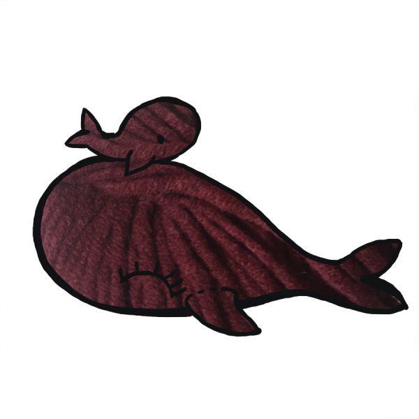 kit Baleine - crochet ou tricot bordeaux