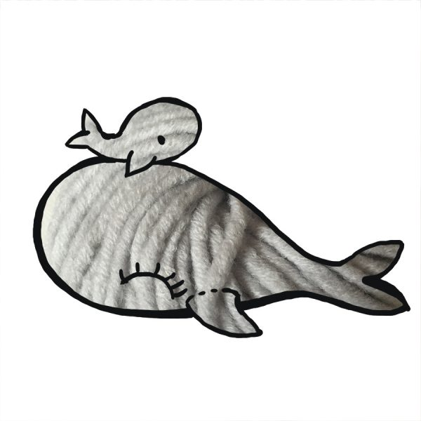 kit Baleine - crochet ou tricot gris clair