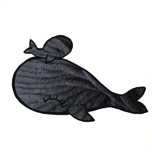 kit Baleine - crochet ou tricot gris foncé