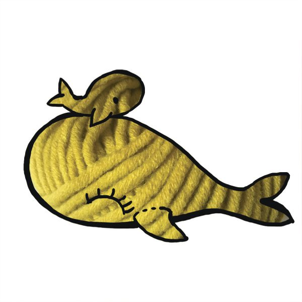 kit Baleine - crochet ou tricot jaune