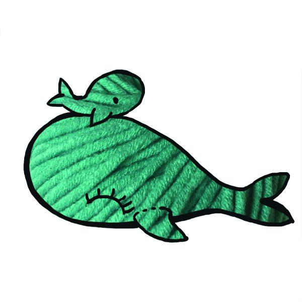 kit Baleine - crochet ou tricot turquoise