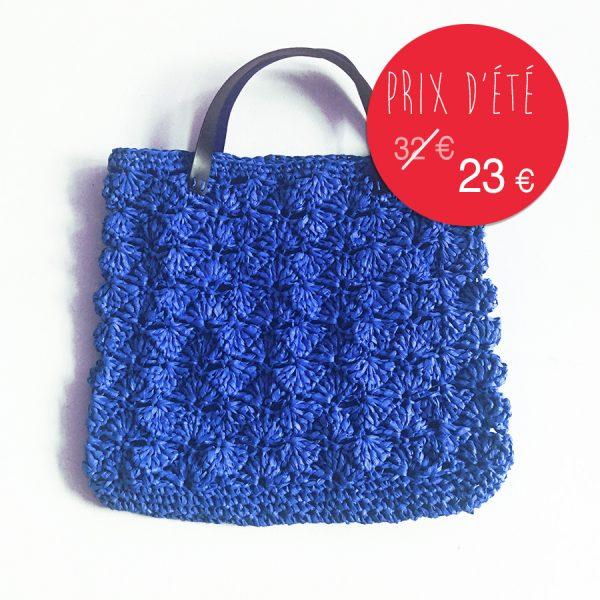 kit papier grand sac d'été - bleu