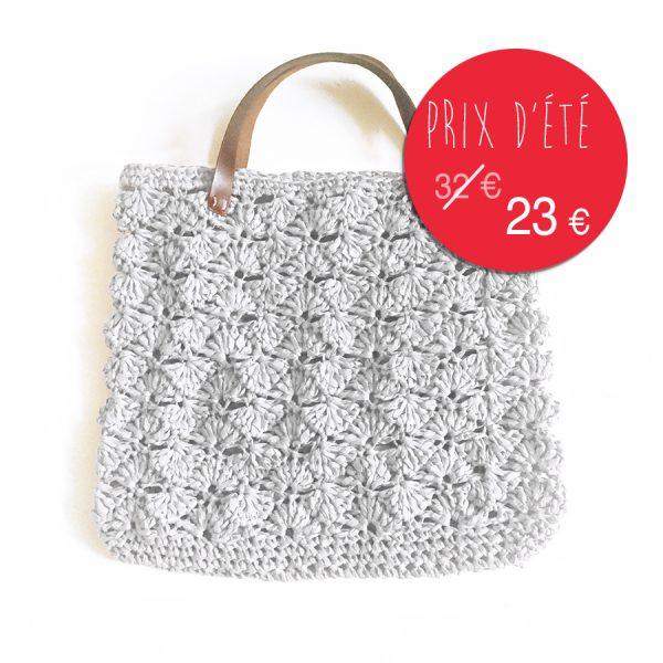 kit papier grand sac d'été - gris perle