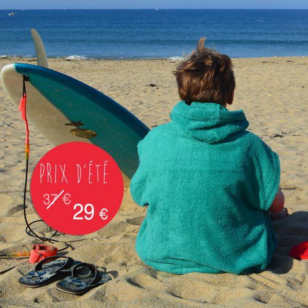 kit éponge de plage - menthe