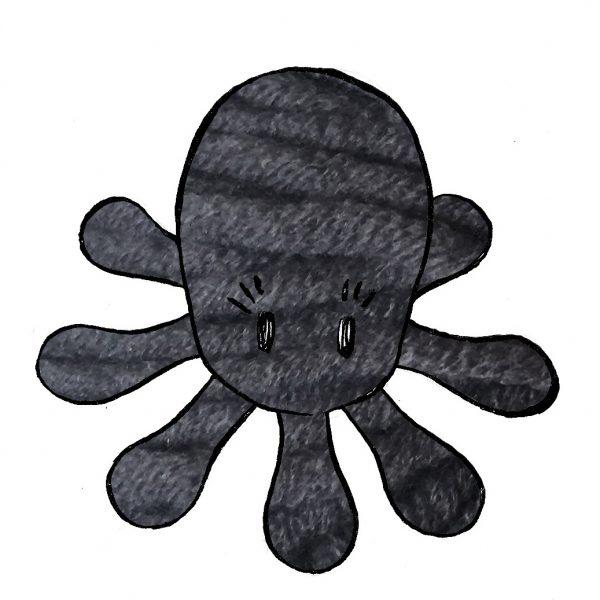 kit poulpe gris foncé - crochet tricot