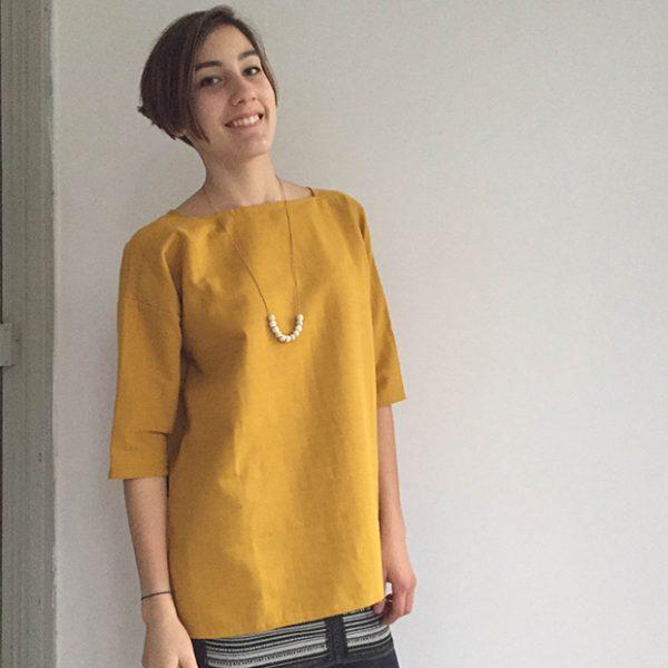 kit Tunique lange - jaune safran