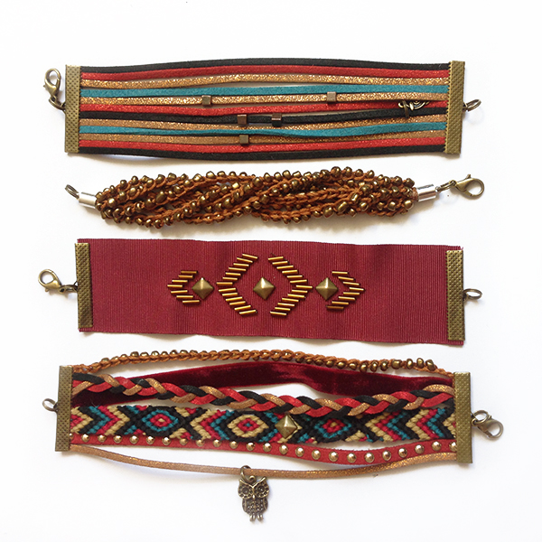 Kit bracelets Manchettes Anastasia