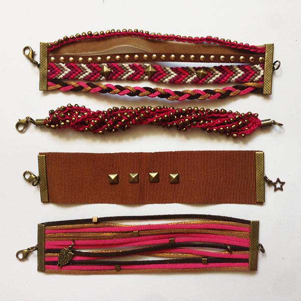Kit bracelets Manchettes Antoinette