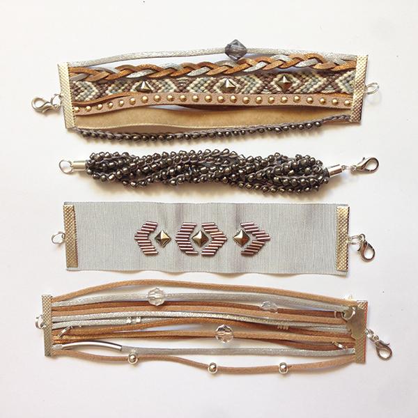 Kit bracelets Manchettes Hermine