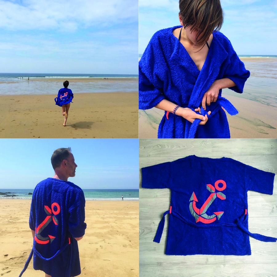 kit veste eponge bleue
