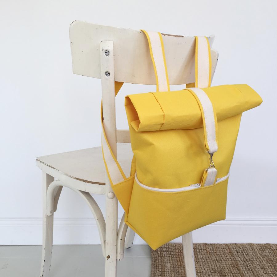 sac dos jaune Lewis