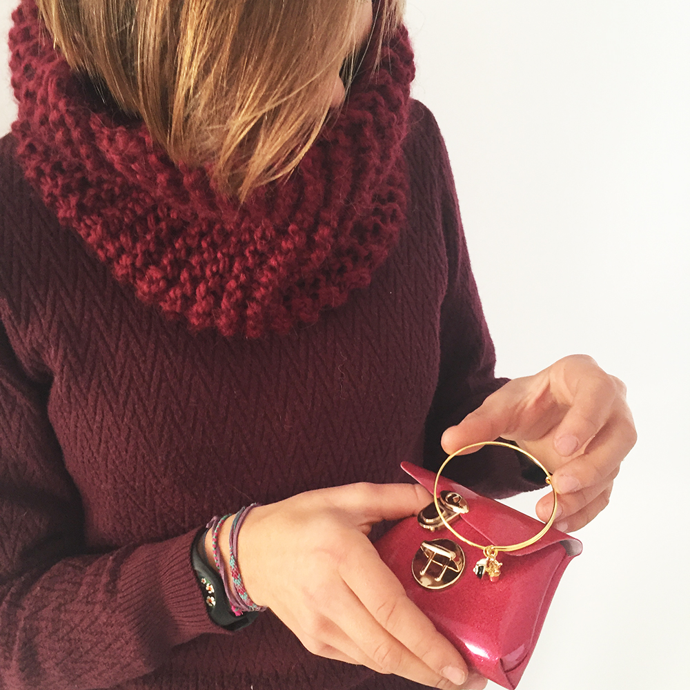 kit tricot snood