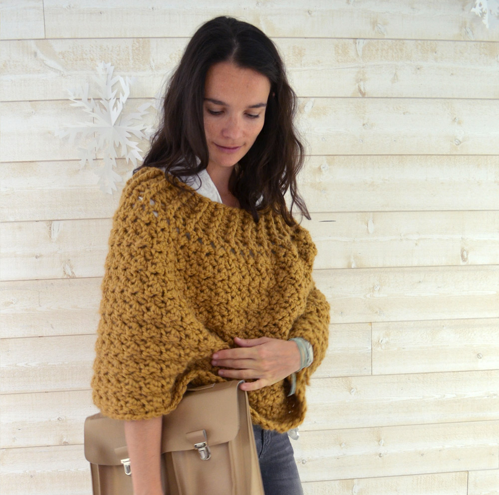 kit crochet warmer poncho