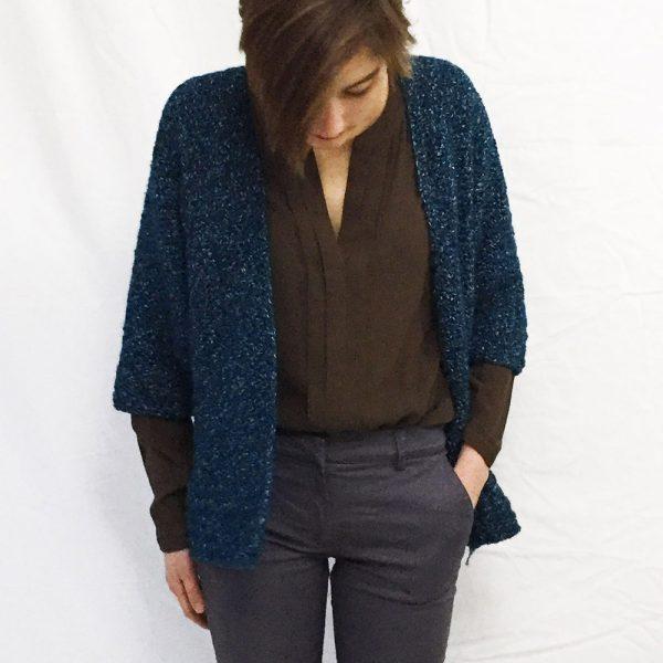Kit gilet Alice Denim - tricot ou crochet