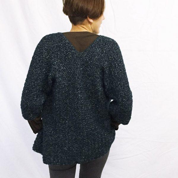 Kit gilet Alice noir - tricot ou crochet