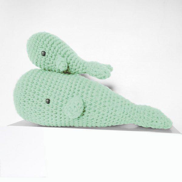 Kit baleine amande - crochet ou tricot