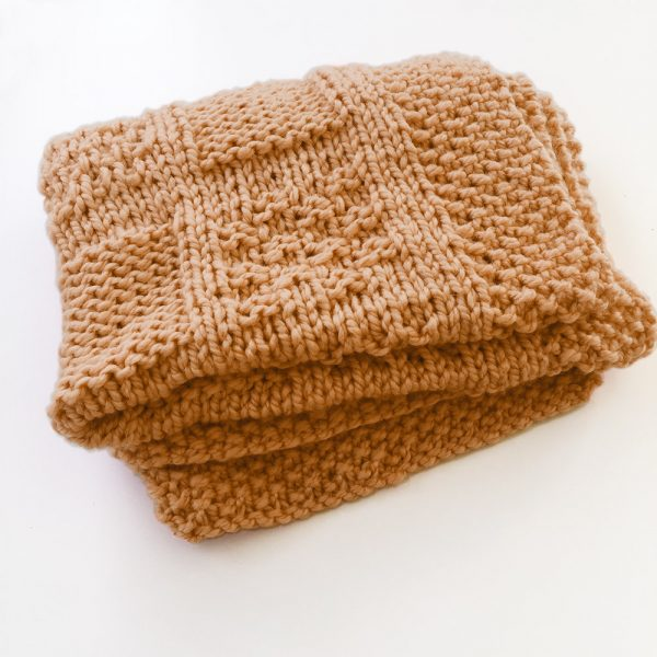 Kit plaid camel - tricot ou crochet