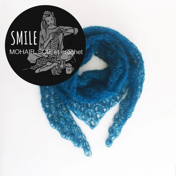 Kit pointe Origami bleu canard - crochet
