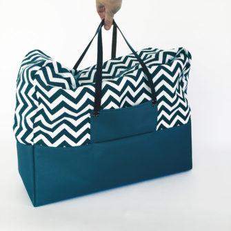 Kit Couture Sac Cabine bleu canard