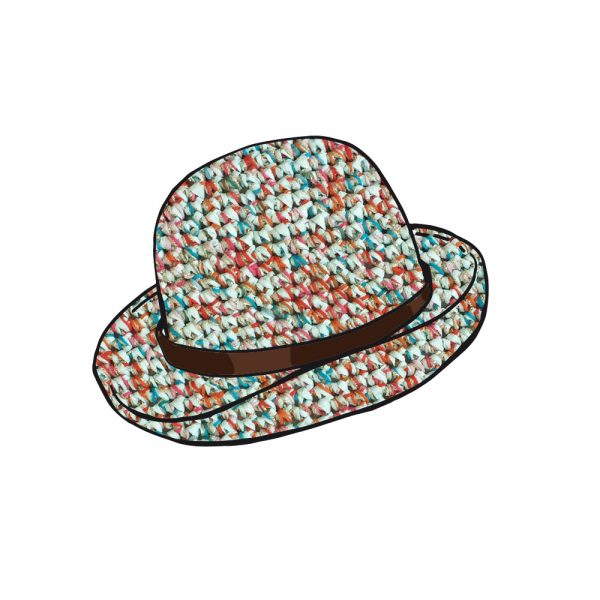 Kit Crochet - Chapeau Menthe multifils