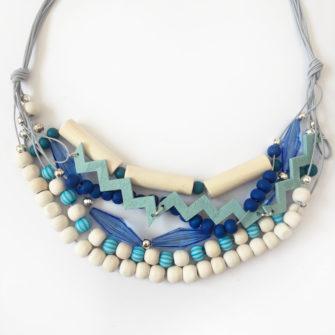 Kit Collier plastron Aquamarine