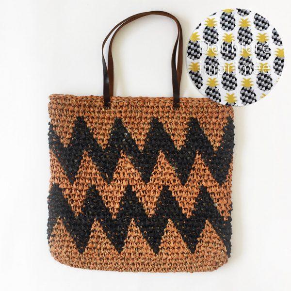 Kit Crochet - Panier Chevron Canelle