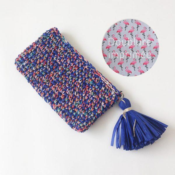 Kit Crochet - Pochette zippée Indigo multifils