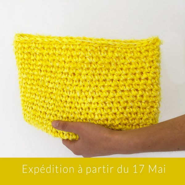 Kit Crochet - Pochette zippée Citron