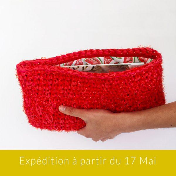Kit Crochet - Pochette zippée Pastèque