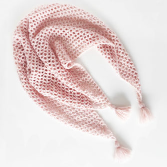 Kit Crochet – Pointe Bise Rose poudre