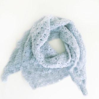 Kit Crochet – Pointe Origami Bleu ciel