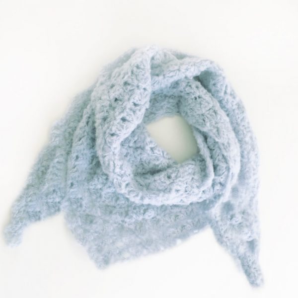 Kit Crochet - Pointe Origami Bleu ciel