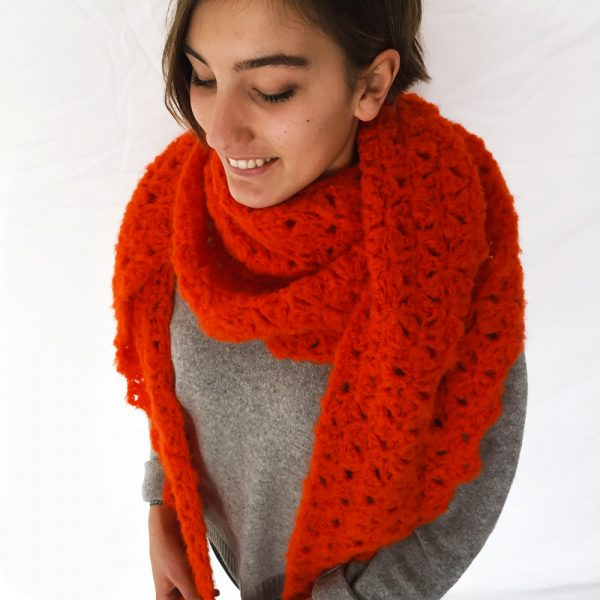 Kit Crochet - Pointe Origami Orange