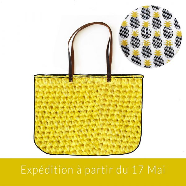 Kit Crochet - Panier Citron multifils
