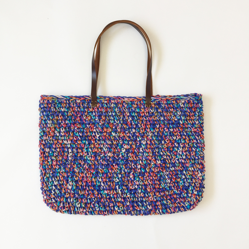 Sac Panier Crochet : Sac panier kit crochet facile