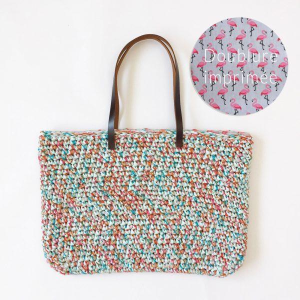 Kit Crochet - Panier Menthe multifils