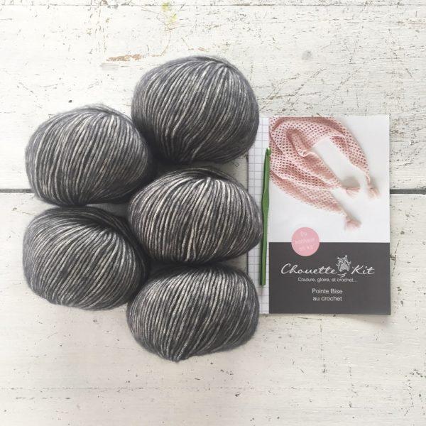 Kit Crochet - Pointe Anthracite Bise