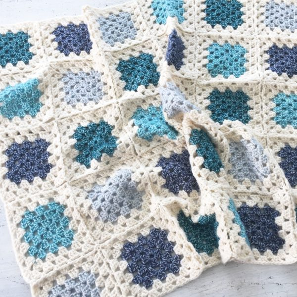 Kit Crochet Blanket Bleu