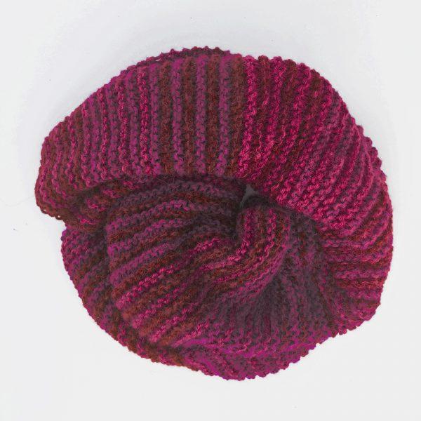 Kit tricot - Etole Mille Raies Grenat