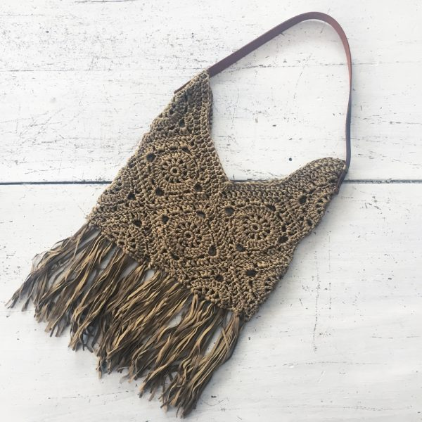 Kit crochet - Sac Granny Taupe