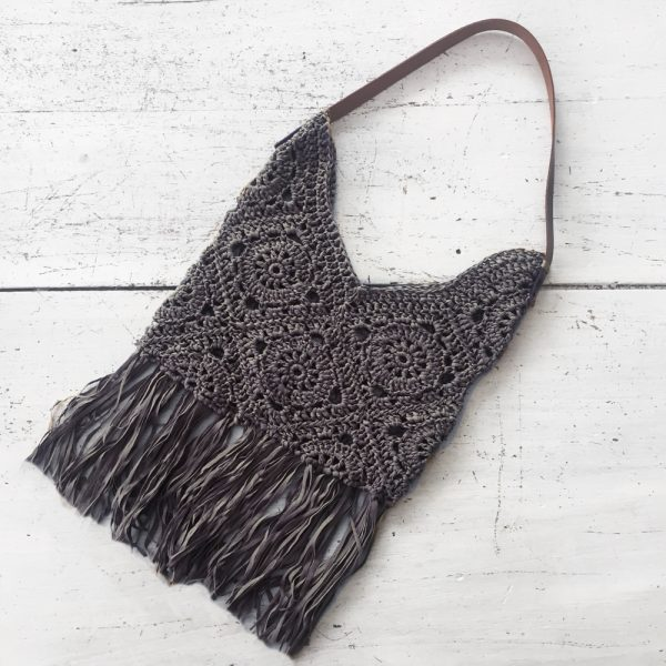 Kit crochet - Sac Granny Anthracite