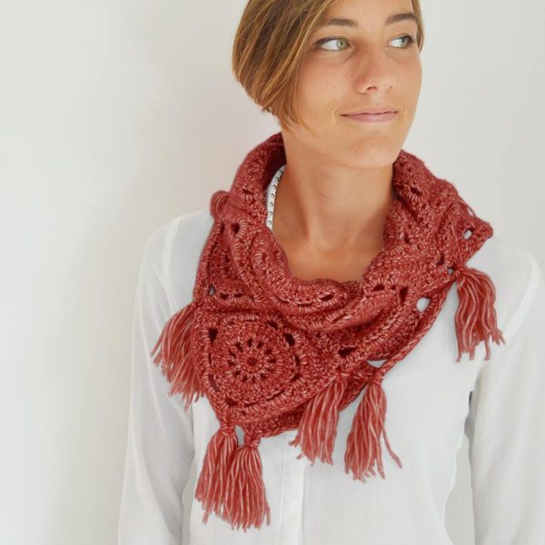 Kit Easy Snood Granny Cerise