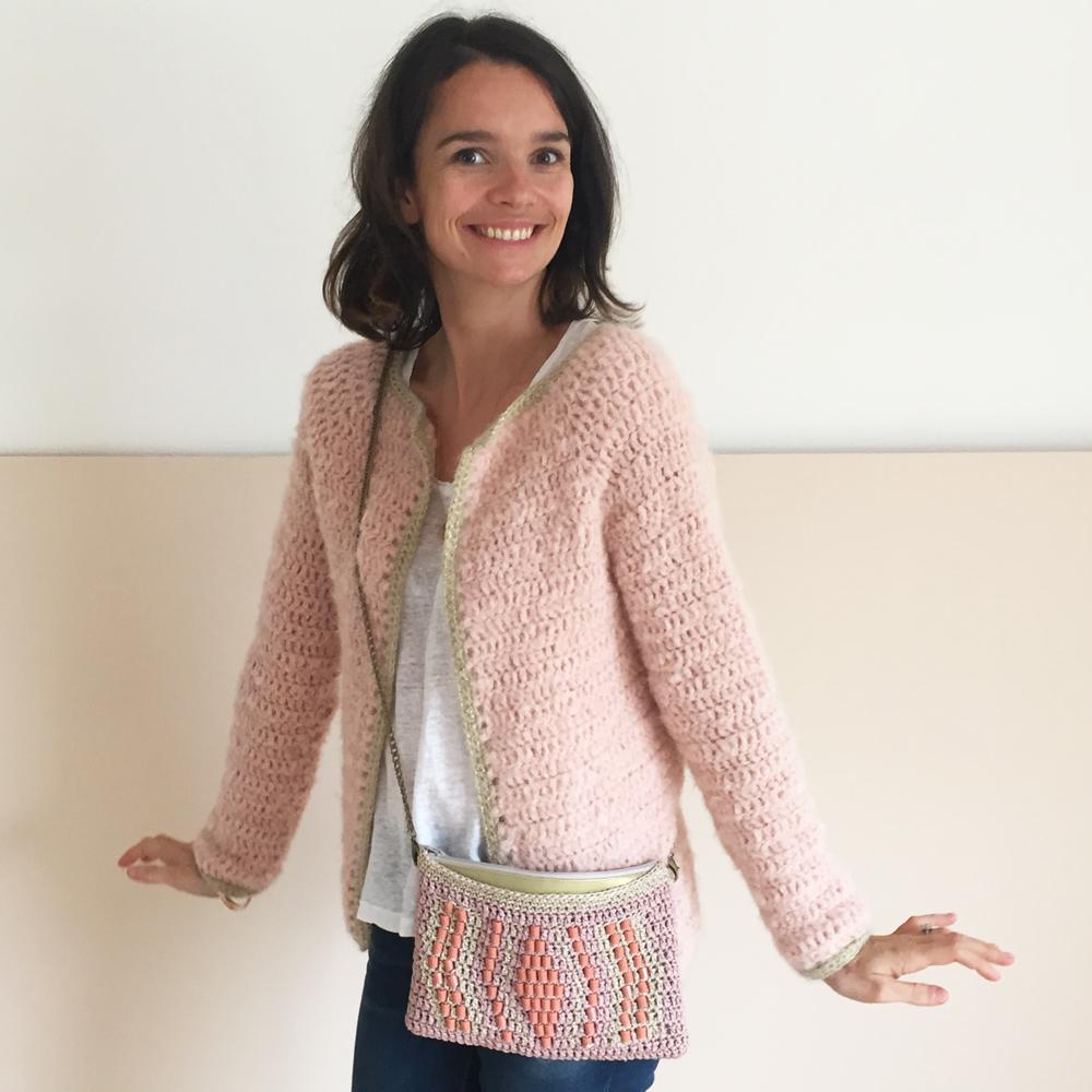 Gilet tout doux cintré - kit crochet intermédiaire avec pelotes et tutoriel
