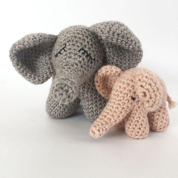 doudou elephant - kit crochet avec pelotes et tutoriel
