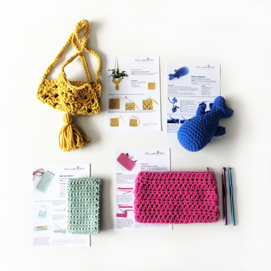 kit starter kit pour apprendre les bases du crochet niveau d butant. Black Bedroom Furniture Sets. Home Design Ideas