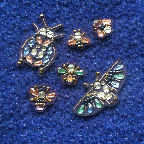 Broches en strass en forme d'insecte à réaliser soi-même - Kit bijou débutant