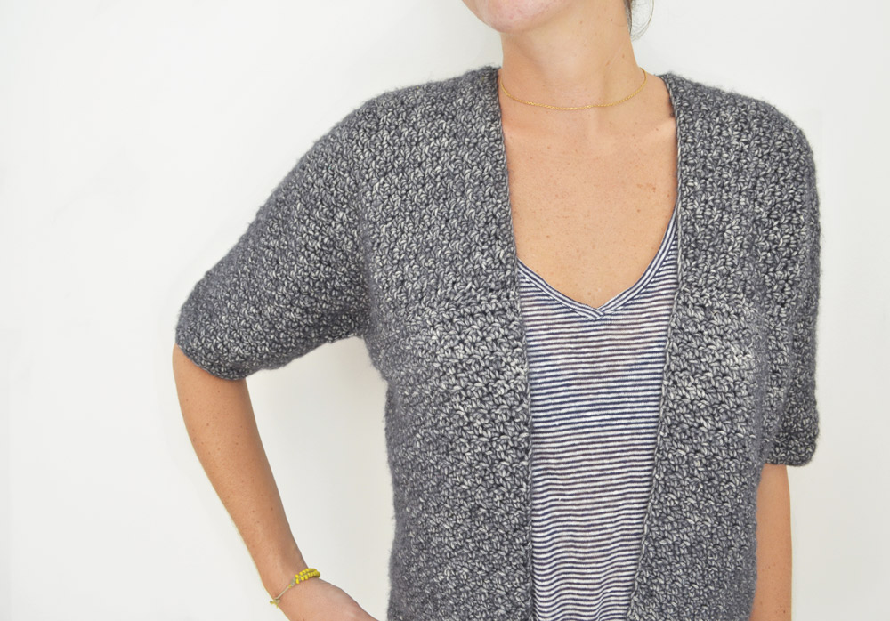 Gilet au crochet - kit crochet facile